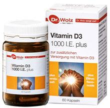 Vitamin D3 1000 I.E. plus - Dr. Wolz - 60 Kapseln -