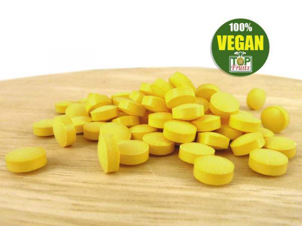Topfruits Brainpower B-Vitamine + Folsäure, vegan, 120 Tabletten für 3 Monate, mit B12