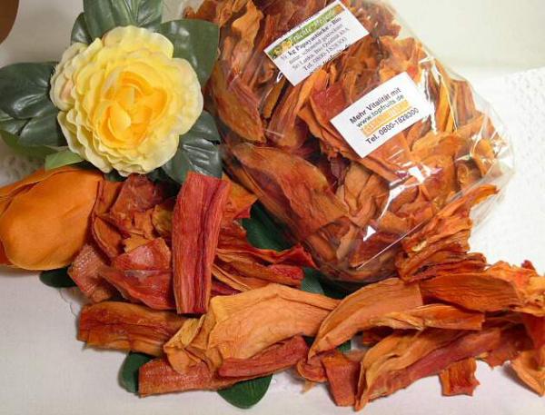 Papayastücke bio kbA, natur, schonend getrocknet, Sri Lanka