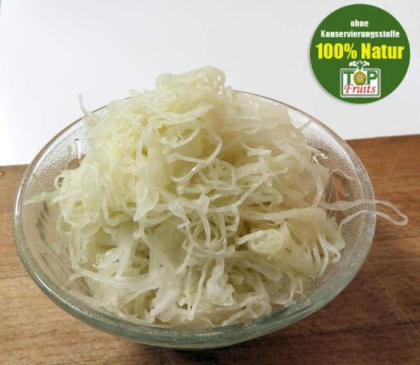 Sauerkraut frisch, natur, aus deutschem Spitzkohl fein gehobelt, Rohkost