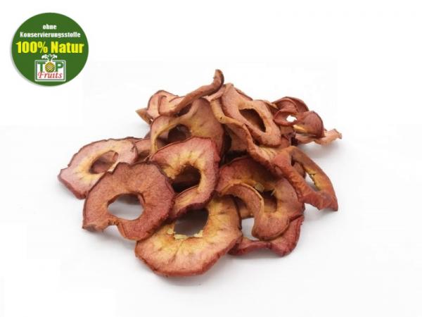 Apfelchips Weirouge, rote Apfelringe, 100% Natur