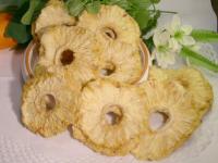 Ananas getrocknet, ganze Ringe, natur, aromatische Spitzenqualität