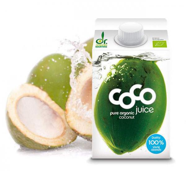 Dr. Martins Coco Drink - 500ml - 100% Kokoswasser, der isotonische Durstlöscher