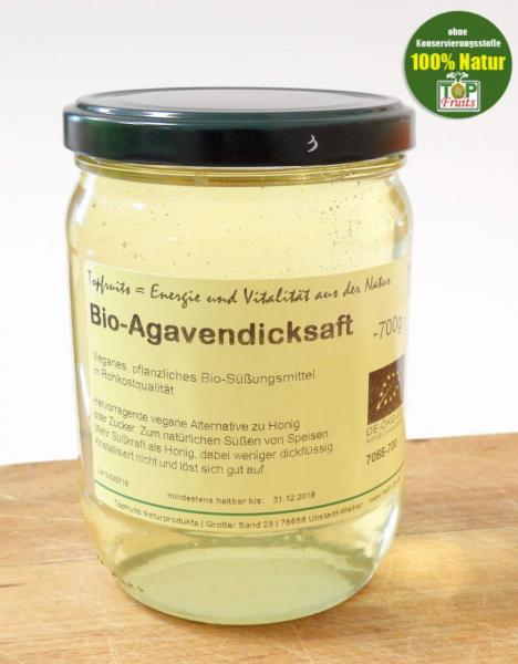 Agavendicksaft (Agavensyrup), bio kbA und Rohkost - 700g Glas