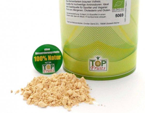 Reisproteinpulver 80% natur, roh, bio kbA - aus fermentiertem braunem Vollreis - Kennenlernpreis