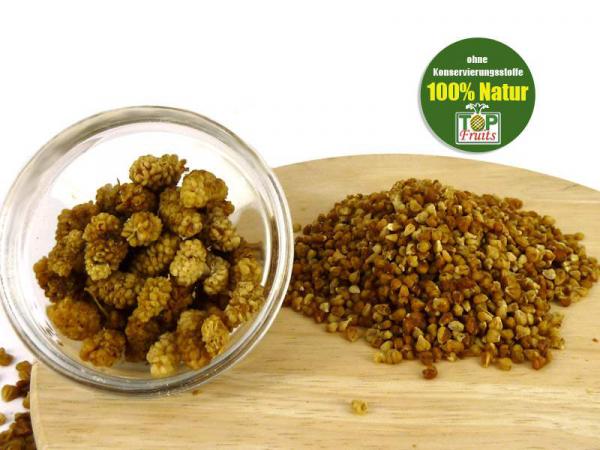 Maulbeeren Crumbles hell, bio kbA, natur, Rohkost, ideal ins Müsli