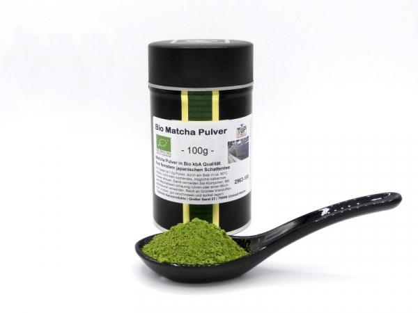 Bio-Matcha aus Japan (Grünteepulver), Topqualität - 100 g Vorteils-Dose