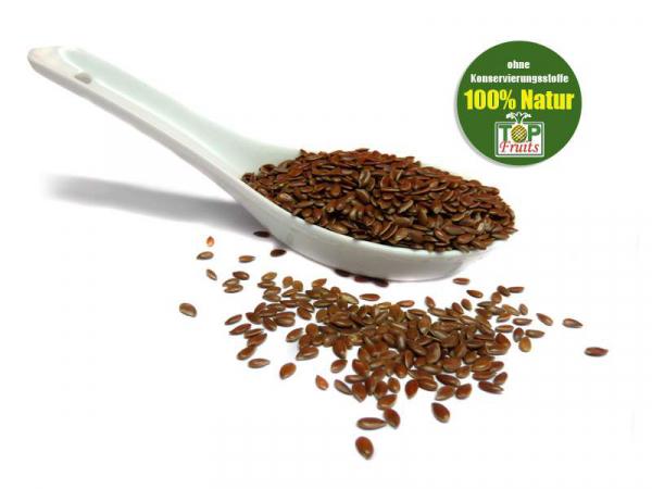 Leinsamen bio - reich an Omega-3 Fettsäuren und Ballaststoffen.