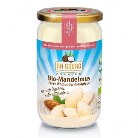 Mandelmus, bio, Rohkost, vegan - 1000 g Glas - aus weißen süßen Bio Mandeln