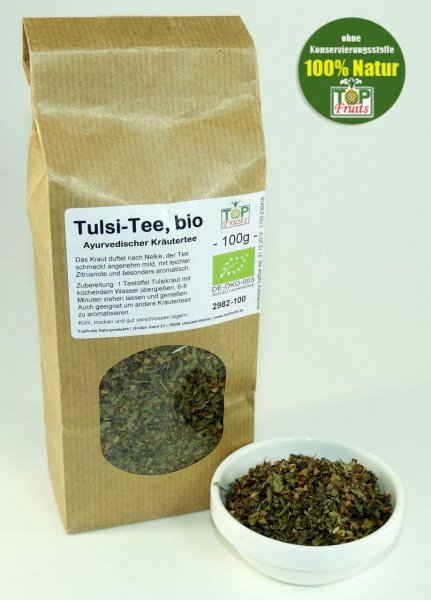 Tulsi Tee, Indisches Basilikum, bio, naturbelassen, Feinschnitt