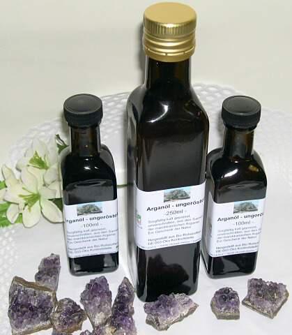 Arganöl (Arganenöl), kaltgepresst, ungeröstet - kontrolliert biologisch -