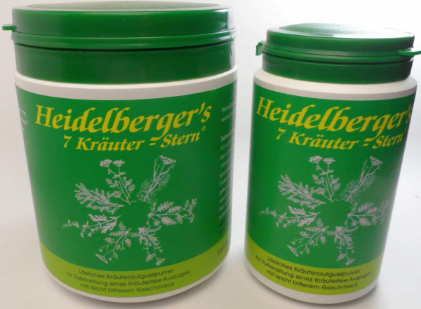 Heidelbergers 7 Kräuter Stern - Bitterkräuterpulver -