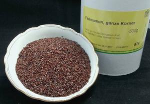 Flohsamen, schwarz, ganz (Plantago arenaria, Psyllium), 100% Natur und Roh