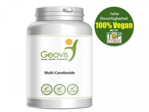Astaxanthin als Multi-Carotinoid, 60 vegane Kapseln, Carotinoide natürlichen Ursprungs