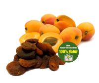 Aprikosen aus der Türkei, ungeschwefelt, kleine Sortierung aus vollreifen Fruechten, Rohkostqualität