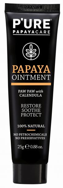Pure Papaya - Hautregenerationscreme 25ml Tube - fermentierte Papaya und Ringelblume