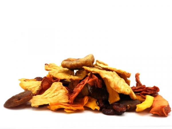 Exotikmischung, bio kbA, mit Aprikosen, Ananas, Feigen, Mango, Papaya, etc. großstückige Premiumqual