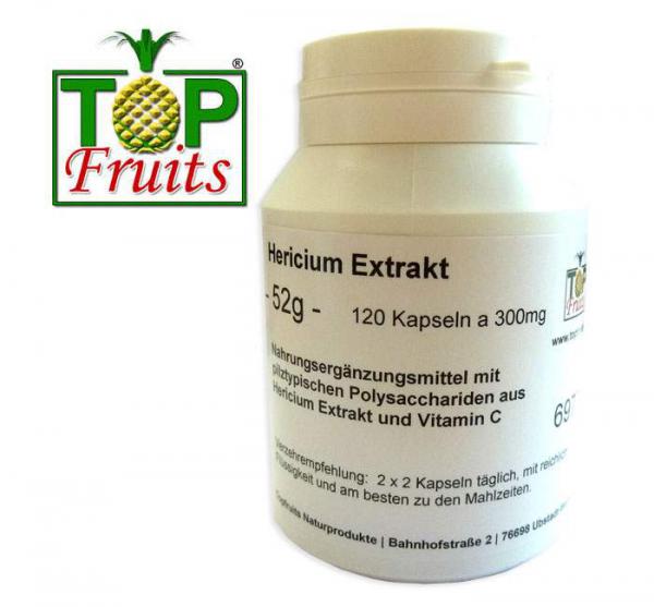 Hericium Extrakt (Igelstachelbart, Affenkopfpilz) 120 Kapseln a 300mg