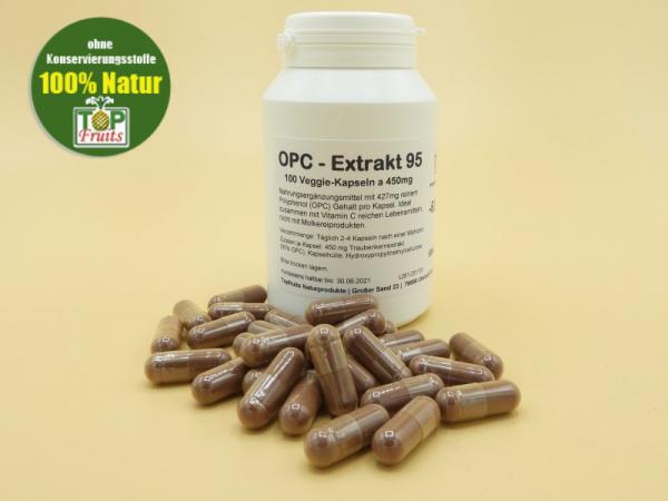 OPC – Extrakt Kapseln 95 - 100 Kapseln a 450mg 95% Extrakt