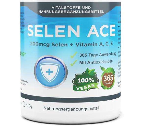 Selen mit ACE - 200 mcg Natriumselenit - 365 Tabletten, vegan
