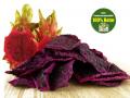 Drachenfrucht (Dragonfruit, Pitahaya), rot, natur, getrocknet