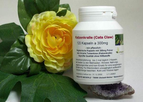 Katzenkralle (Cat´s Claw), 120 veg. Kapseln a 300mg (Uncaria Tomentosa, Unha de gato)