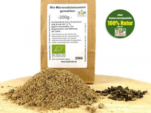 Mariendistelsamen Bio, gemahlen, aus deutschem Anbaugebiet
