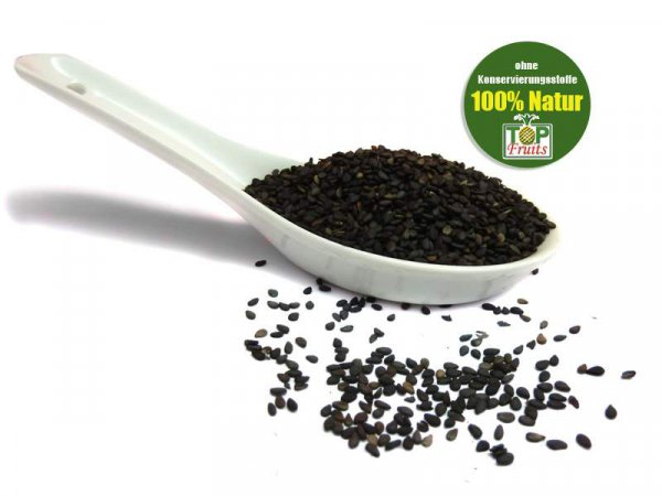 Sesam schwarz, ganz, bio kbA, naturbelassen, ungeschält