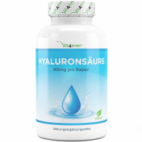 Hyaluronsäure 400 mg - 120 Kapseln, vegan