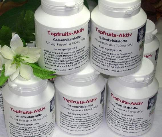 Chondroitin-Glucosamin Topfruits-Aktiv Gelenkvitalstoffe 120 Kapseln à 730 mg