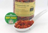Getrocknete Papaya Würfel, bio, natürliche Kraftpakete fürs Müsli