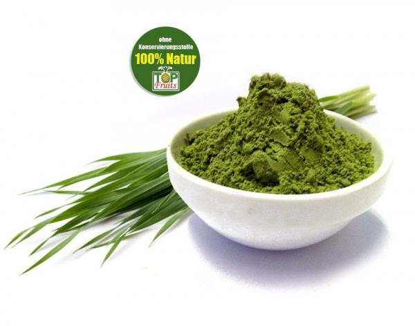 Bio-Gerstengraspulver, bio kbA, extra feine und grüne Qualität