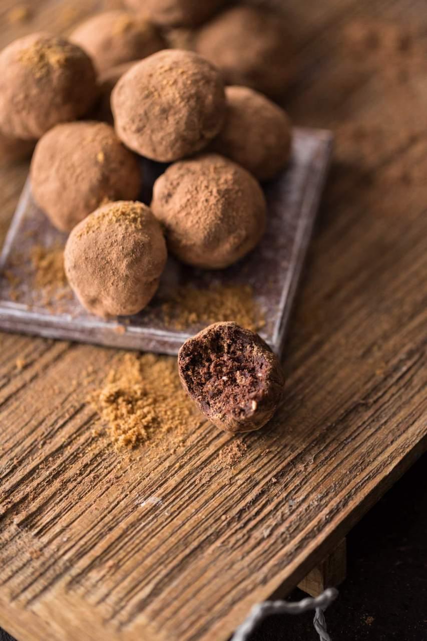 Rohe Mandel-Kakao Pralinen