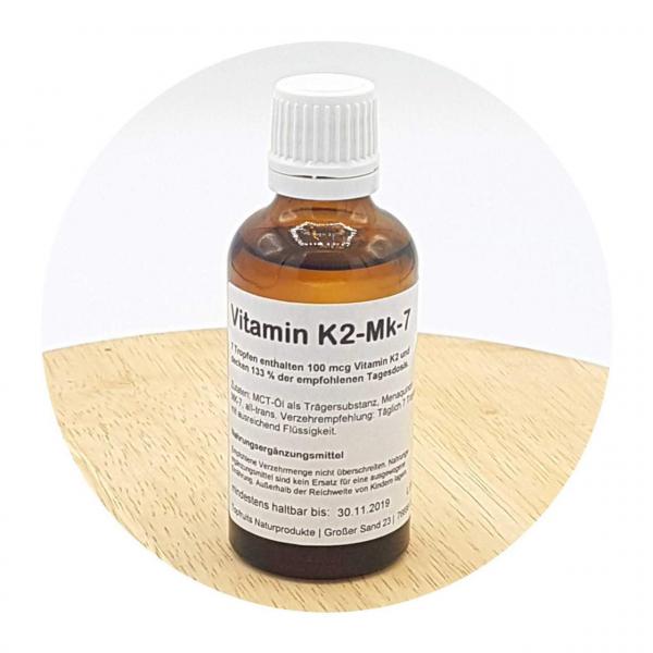 Vitamin K2 MK-7 Tropfen - 50ml - in MCT Öl, beste Bioverfügbarkeit