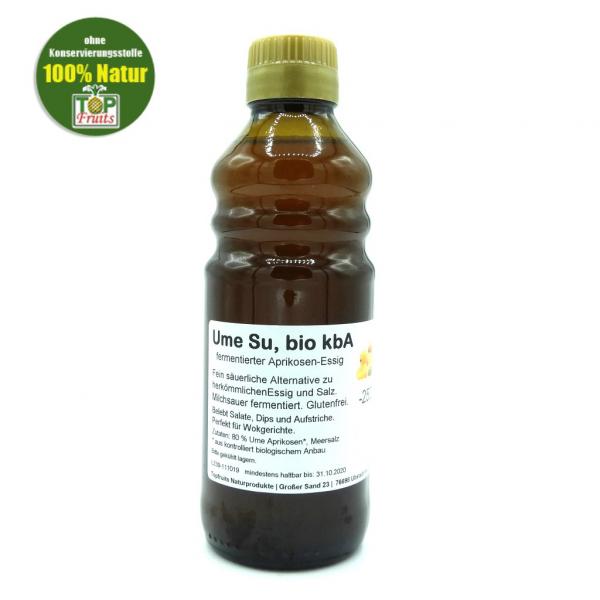 Ume Su, bio kbA, 250ml Flasche, milchsauer fermentierter Aprikosen-Essig
