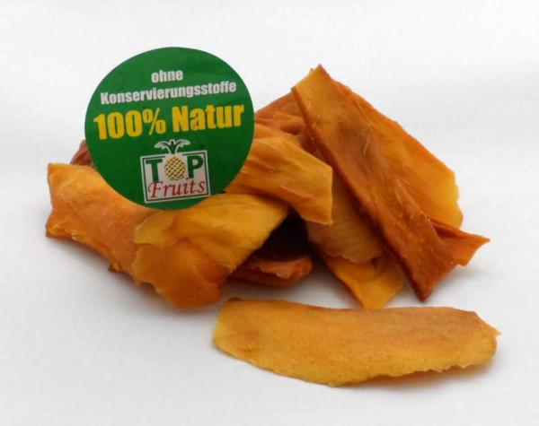 Mangostreifen, natur, bio kbA, ungezuckert, faserfrei - süß und fruchtig