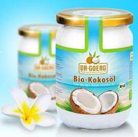 Bio-Kokosöl von Dr. Goerg, kaltgepresst aus frischem Kokosmark - 1000ml Glas - biokbA