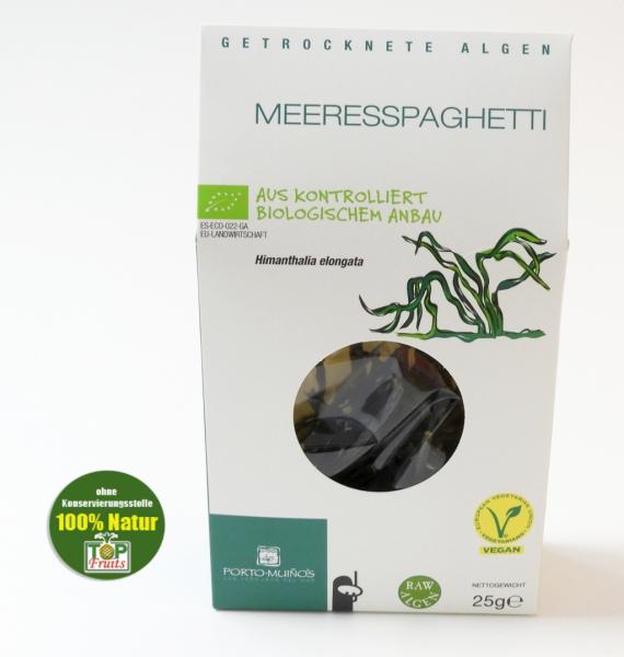 Meeresspaghetti, Algen, bio kbA, Rohkost, 25g