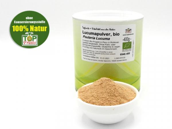 Lucuma Pulver, natur, bio kbA, aus der ganzen Frucht (Pouteria Lucuma) - Rohkostqualität