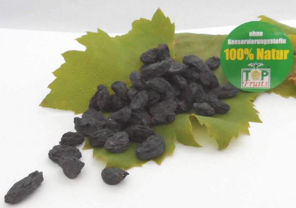 Blaue Rosinen, natur, bio kbA, aus tiefblauen kernlosen Bio-Trauben