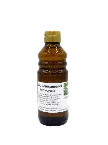 Bio-Leinöl (Leinsamenöl) - besonders mild, kaltgepresst, kbA 250ml