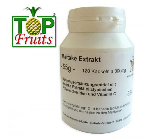 Maitake Pilzextrakt - 120 Kapseln a 300mg - Dose - rein pflanzlich
