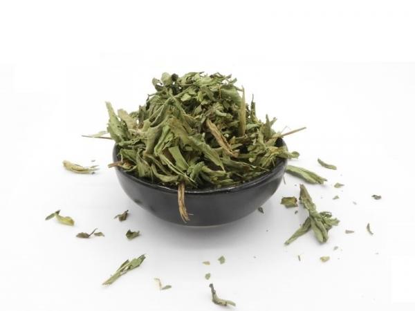 Stevia Blätter (Stevia Rebaudiana), geschnitten, getrocknet, natur, Süßkraut
