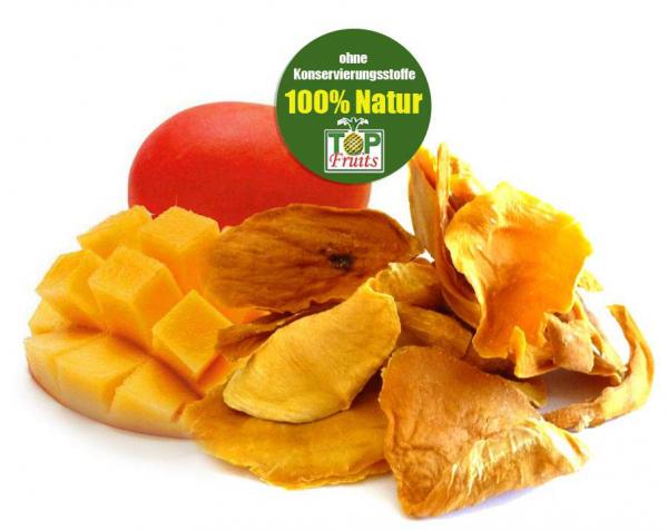 Mangostücke, natur, bio kbA, Premiumqualität, faserfrei, Rohkostqualität