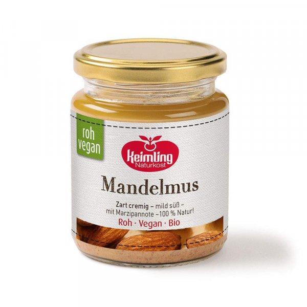 Mandelmus, bio, Rohkost, vegan - 500 g Glas -