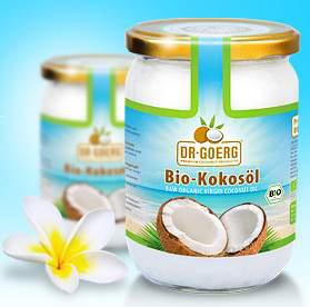 Bio-Kokosöl von Dr. Goerg, kaltgepresst aus frischem Kokosmark - 500ml Glas - biokbA