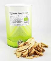 Topinambur-Chips, schonend getrocknet, zu 100 % aus Bio Topinamburknollen