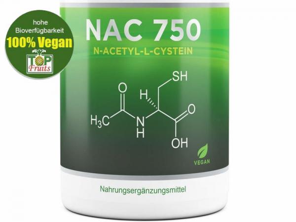 N-Acetyl L-Cystein (NAC, NCC), 180 Vegi-Kapseln a 750 mg Acetylcystein, schwefelhaltige Aminosäure,