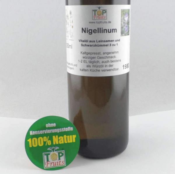 Nigellinum Würz-Vitalöl aus Leinsamen und Schwarzkümmel, kaltgepresst
