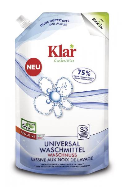 Waschnuss flüssig Alma Win/Klar 1,5L Nachfüllpack, Dermatologisch getestet
